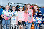 Enjoying the Friends of University Hospital Kerry 'Night at the Dog' in the Kingdom Greyhound Stadium on Friday were Mary Moore, Ella Moore, Emma Donnakin, Rachel Foley and Niamh Horgan