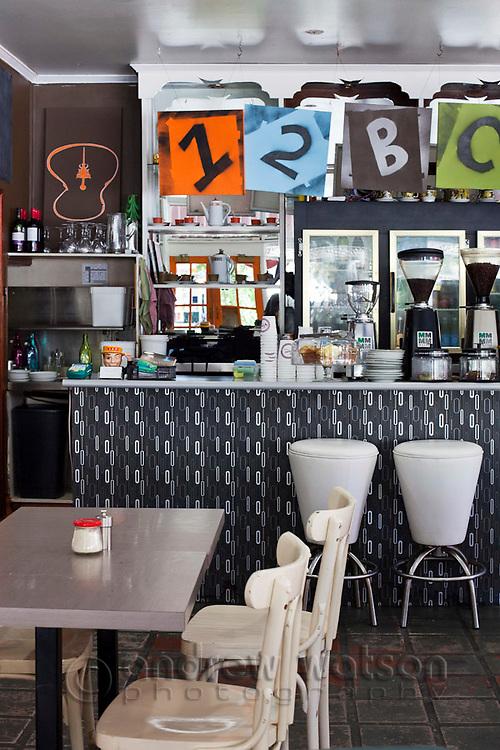 Interior of 12 BC Cafe.  Cairns, Queensland, Australia