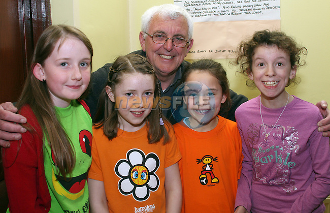 Emer Clare, Niamh Kelly, Hannah Russell and Alison Kieran with PRO, Tommy McCabe at the Dunleer Variety Performance Fundraiser for Haiti Victims...Photo NEWSFILE/Jenny Matthews.(Photo credit should read Jenny Matthews/NEWSFILE)....This Picture has been sent you under the condtions enclosed by:.Newsfile Ltd..The Studio,.Millmount Abbey,.Drogheda,.Co Meath..Ireland..Tel: +353(0)41-9871240.Fax: +353(0)41-9871260.GSM: +353(0)86-2500958.email: pictures@newsfile.ie.www.newsfile.ie.FTP: 193.120.102.198.