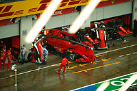 11th July 2020; Styria, Austria; FIA Formula One World Championship 2020, Grand Prix of Styria qualifying sessions;  Pit lane, heavy rain Spielberg Austria
