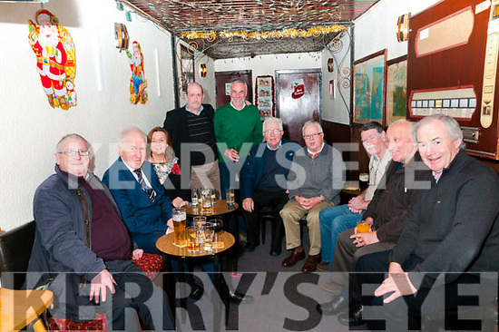 Lartigue Monorail Xmas Party: The members of Listowel's Lartigue Monorail enjoying theit Xmas party at the Sheebeen Bar, Listowel on Friday night last. L-R: Derry Reen, jimmy Deenihan, Judy Carmody, Martin Griffin, John Looney,  Michael Guerin, Sheamus Murphy, Pat Brodbin, Pat Walsh & Leo Daly.