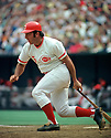 CIRCA 1970's:  Johnny Bench #5, of the Cincinnati Reds, at bat during  a game from his career with the Cincinnati Reds.  Johnny Bench played for 17 seasons, all with the Cincinnati Reds. Johnny Bench was a 14 -time All-Star, 2-time National League MVP and was inducted to the Baseball Hall of Fame in 1989. (Photo by: 1970  SportPics  )  Johnny Bench