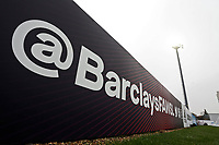 FAWSL signage during Arsenal Women vs Liverpool Women, Barclays FA Women's Super League Football at Meadow Park on 24th November 2019
