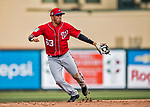 24 February 2019: Washington Nationals top prospect infielder Luis Garcia in action during a Spring Training game against the St. Louis Cardinals at Roger Dean Stadium in Jupiter, Florida. The Nationals defeated the Cardinals 12-2 in Grapefruit League play. Mandatory Credit: Ed Wolfstein Photo *** RAW (NEF) Image File Available ***