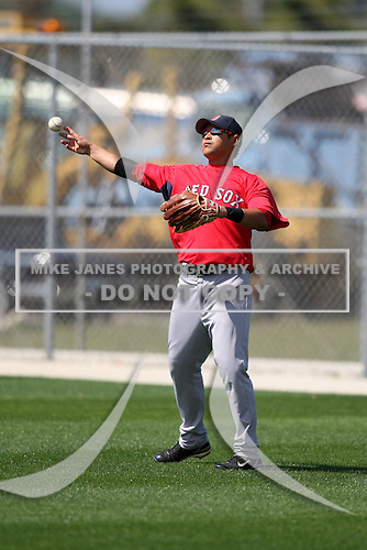 March 18, 2010:  Right Fielder Ronald Bermudez of the Boston Red Sox organization during Spring Training at Ft.  Myers Training Complex in Fort Myers, FL.  Photo By Mike Janes/Four Seam Images