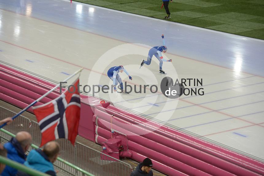 SPEED SKATING: HAMAR: Viking Skipet, 02-02-2019, ISU World Cup Speed Skating, Anne Gulbrandsen (NOR), Julie Nistad Samsonsen (NOR), ©photo Martin de Jong