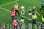 Kerry in action against Donegal in the All Ireland Senior Football Final in Croke Park Dublin on Sunday 21st September 2014.