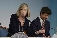 Roma, 28 Febbraio 2014<br /> La Ministra dell'istruzione Stefania Giannini e il ministro alla Giustizia Andrea Orlando al termine del  Consiglio dei Ministri.