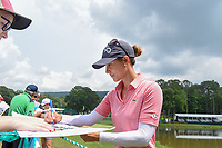 Azahara Munoz (ESP) signs autographs near 18 following her  round 4 of the U.S. Women's Open Championship, Shoal Creek Country Club, at Birmingham, Alabama, USA. 6/3/2018.<br /> Picture: Golffile | Ken Murray<br /> <br /> All photo usage must carry mandatory copyright credit (&copy; Golffile | Ken Murray)