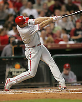 Phillies OF Pat Burrell on Friday May 23rd at Minute Maid Park in Houston, Texas. Photo by Andrew Woolley / Four Seam Images.