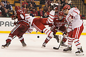John Marino (Harvard - 12), Charlie McAvoy (BU - 7), Wiley Sherman (Harvard - 25), Brandon Hickey (BU - 4) - The Harvard University Crimson defeated the Boston University Terriers 6-3 (EN) to win the 2017 Beanpot on Monday, February 13, 2017, at TD Garden in Boston, Massachusetts.