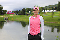 Lexi Thompson (USA) on the par3 5th tee during Wednesday's Pro-Am Day of The Evian Championship 2017, the final Major of the ladies season, held at Evian Resort Golf Club, Evian-les-Bains, France. 13th September 2017.<br /> Picture: Eoin Clarke | Golffile<br /> <br /> <br /> All photos usage must carry mandatory copyright credit (&copy; Golffile | Eoin Clarke)