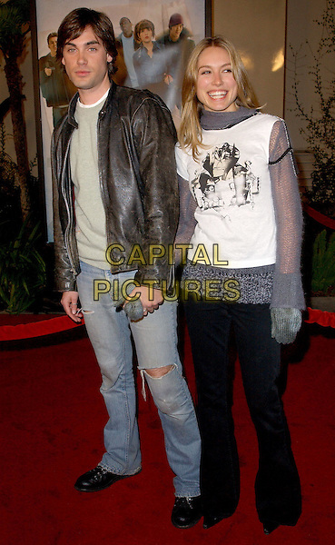 DREW FULLER & SARA CARTER.The World Premiere of The Perfect Score held at The Cinerama Dome in Hollywood, California .27 January 2004                                                   .*UK Sales Only*.www.capitalpictures.com.sales@capitalpictures.com.©Capital Pictures.