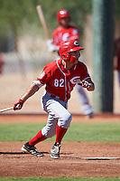 Cincinnati Reds Alejo Lopez (82) during an Instructional League game against the Chicago White Sox on October 11, 2016 at the Cincinnati Reds Player Development Complex in Goodyear, Arizona.  (Mike Janes/Four Seam Images)