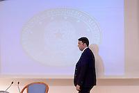 Roma 13 Novembre 2015<br /> Matteo Renzi<br /> Conferenza stampa al termine del Consiglio dei Ministri 90