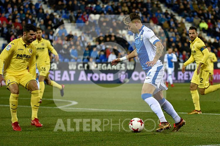 Leganes Jose Naranjo vs Villarreal during Copa del Rey match. 20180104.