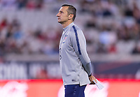 , FL - : Vlatko Andonovski of the United States watches his team during a game between  at  on ,  in , Florida.