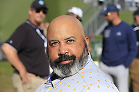 ESPN's Mike Collins waits to interview some victims after Saturday's Round 3 of the 2018 AT&amp;T Pebble Beach Pro-Am, held over 3 courses Pebble Beach, Spyglass Hill and Monterey, California, USA. 10th February 2018.<br /> Picture: Eoin Clarke | Golffile<br /> <br /> <br /> All photos usage must carry mandatory copyright credit (&copy; Golffile | Eoin Clarke)