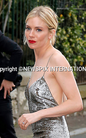12.05.2015, Antibes; France: SIENNA MILLER<br /> attends the Cinema Against AIDS amfAR Gala 2015 held at the Hotel du Cap, Eden Roc in Cap d'Antibes.<br /> MANDATORY PHOTO CREDIT: &copy;Thibault Daliphard/NEWSPIX INTERNATIONAL<br /> <br /> (Failure to credit will incur a surcharge of 100% of reproduction fees)<br /> <br /> **ALL FEES PAYABLE TO: &quot;NEWSPIX  INTERNATIONAL&quot;**<br /> <br /> Newspix International, 31 Chinnery Hill, Bishop's Stortford, ENGLAND CM23 3PS<br /> Tel:+441279 324672<br /> Fax: +441279656877<br /> Mobile:  07775681153<br /> e-mail: info@newspixinternational.co.uk