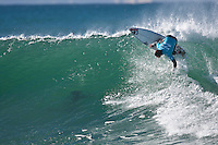 DAMIEN HOBGOOD (USA)  JEFFREYS BAY, South Africa (Wednesday, July 15, 2009) - The final day of the Billabong Pro Jeffreys Bay was called on today  with four-to-six (1 - 1.5 metre) waves      Event No. 5 of 10 on the 2009 ASP World Tour, the Billabong Pro Jeffreys Bay is coming off an historic day of competition that saw cranking surf, perfect scores and some major upsets. Today's culmination was to crown JOEL PARKINSON (AUS) as the Billabong Pro champion. Parkinson defeated DAMIEN HOBGOOD (USA) in the 35 minute final and gained valuable points in the 2009 ASP World Title race.         Photo: joliphotos.com