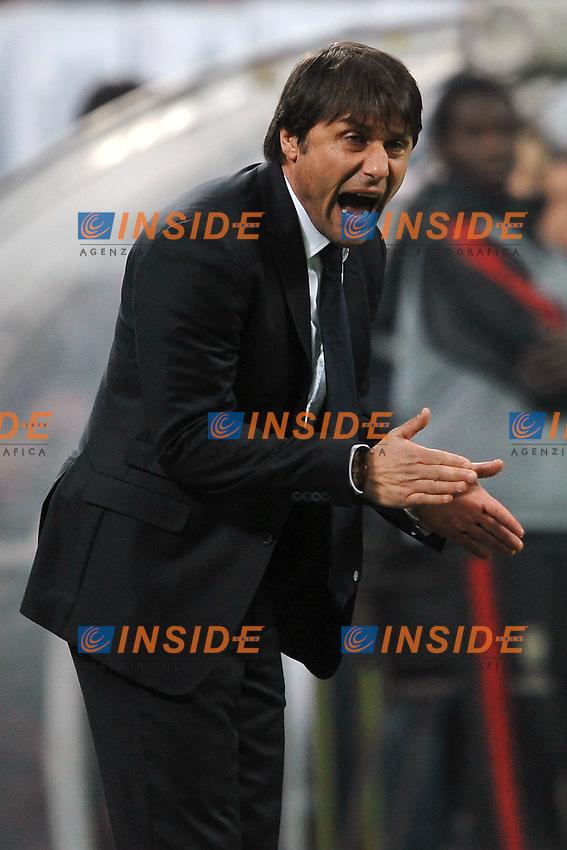 "Antonio Conte allenatore Juventus.Milano 25/2/2012 Stadio ""Giuseppe Meazza - San Siro"".Football Calcio 2011/2012 Serie A.Milan Vs Juventus.Foto Insidefoto Andrea Staccioli"