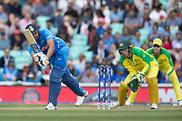 Rohit Sharma (India) clips Adam Zampa (Australia) into the on side for an easy single during India vs Australia, ICC World Cup Cricket at The Oval on 9th June 2019