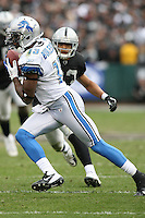 December 18, 2011 Oakland, CA: Detroit Lions wide receiver Nate Burleson #13 during an NFL game played between the Oakland Raiders and the Detroit Lions at O.co Coliseum. The Lions defeated the Raiders 28-27.