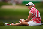TAOYUAN, TAIWAN - OCTOBER 28:  Paula Creamer of USA sits on the grass as she wait to tee on the 15th hole during the day four of the Sunrise LPGA Taiwan Championship at the Sunrise Golf Course on October 28, 2012 in Taoyuan, Taiwan.  Photo by Victor Fraile / The Power of Sport Images