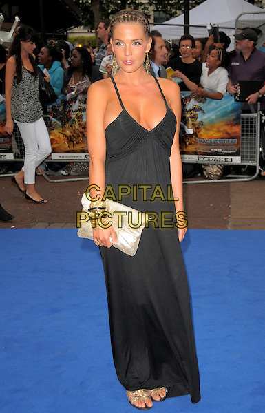 DANIELLE LLOYD .'Transformers: Revenge of the Fallen' .UK film premiere at Odeon cinema, Leicester Square, London, England..15th June 2009.full length black long maxi dress gold silver clutch bag bracelets sandals .CAP/CAS.©Bob Cass/Capital Pictures.