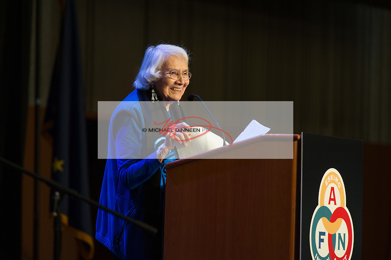 Artist Delores Churchill delivers a keynote address at the convention.  Photo for the Journal by Michael Dinneen