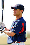 13 March 2006: Marcus Giles, second baseman for the Atlanta Braves, prepares for batting practice prior to a Spring Training game against the St. Louis Cardinals at The Ballpark at Disney's Wide World of Sports, in Orlando, Florida. The Cardinals defeated the Braves 9-0 in Grapefruit League play...Mandatory Photo Credit: Ed Wolfstein Photo..