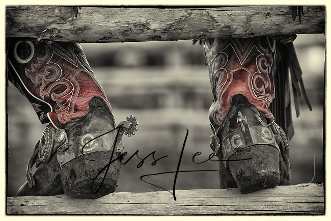 Cowboy Boots Western fine art prints and photographs of the western lifestyle by western photographer Jess Lee.