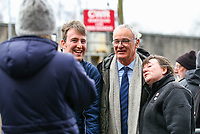 Fulham manager Claudio Ranieri poses for a picture with Burnley fans outside Turf Moor<br /> <br /> Photographer Alex Dodd/CameraSport<br /> <br /> The Premier League - Burnley v Fulham - Saturday 12th January 2019 - Turf Moor - Burnley<br /> <br /> World Copyright © 2019 CameraSport. All rights reserved. 43 Linden Ave. Countesthorpe. Leicester. England. LE8 5PG - Tel: +44 (0) 116 277 4147 - admin@camerasport.com - www.camerasport.com