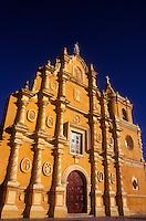The baroque facade of the Iglesia de Recoleccion in Leon, Granada.