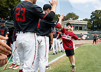Stanford, CA -- May 15, 2018: Stanford Baseball wins 5-1 over BYU at Sunken Diamond.