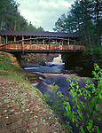 Amnicon Falls State Park, WI<br /> Covered bridge over the Amnicon River - summer