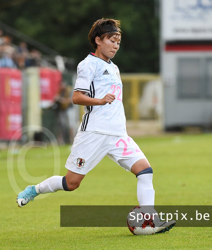 20170613 - LEUVEN ,  BELGIUM : Japanese Ami Sugita pictured during the female soccer game between the Belgian Red Flames and Japan , a friendly game before the European Championship in The Netherlands 2017  , Tuesday 13 th Juin 2017 at Stadion Den Dreef  in Leuven , Belgium. PHOTO SPORTPIX.BE | DIRK VUYLSTEKE