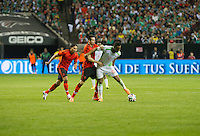 Atlanta, GA - Wednesday, March 5, 2014: The Mexican  National team plays an International friendly match against Nigeria that ended in a scoreless draw at the Georgia Dome.
