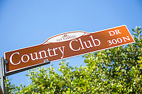 Country Club Dr Street Sign in San Gabriel