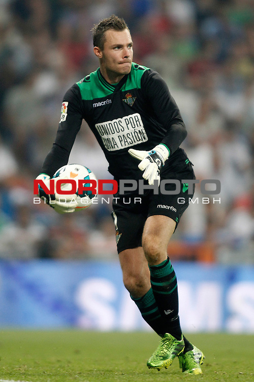 Betis' Stephan Andersen during La Liga match.August 18,2013. Foto © nph / Acero)