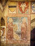 Icons & frescoes, San Gimignano, Siena-Tuscano, Italy