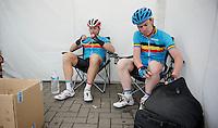 Stijn Devolder (BEL) & Nick Nuyens (BEL) together in a national (selection) team<br /> <br /> Halle - Ingooigem 2013<br /> 197km