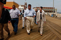 Belmar, USA. 23th May 2014. New Jersey Governor Chris Christie visit Belmar As the summer season gets underway over the Memorial Day weekend. Kena Betancur/VIEWpress