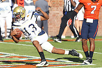 Oct. 15, 2011-Charlottesville, VA.-USA- Georgia Tech quarterback Tevin Washington (13) scores a touchdown during the ACC football game against the Virginia Cavaliers at Scott Stadium. Virginia won 24-21. (Credit Image: © Andrew Shurtleff/