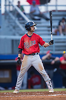 Colton Waltner (26) of the Elizabethton Twins at bat against the Danville Braves at American Legion Post 325 Field on July 1, 2017 in Danville, Virginia.  The Twins defeated the Braves 7-4.  (Brian Westerholt/Four Seam Images)