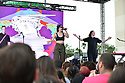 SUNRISE, FLORIDA - DECEMBER 22: (L-R) Max Ernst, Chelsea Lee and Spencer Ernst of Shaed perform on stage during Y100's Jingle Ball 2019 Village - PRE-SHOW Presented by Capital One at BB&T Center on December 22, 2019 in Sunrise, Florida.  ( Photo by Johnny Louis / jlnphotography.com )