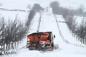 24/03/13 ..A snow plough gets stuck trying to clear snow near Tissington on the A515 Ashbourne to Buxton road in the Derbyshire Peak District...All Rights Reserved - F Stop Press.  www.fstoppress.com. Tel: +44 (0)1335 300098.