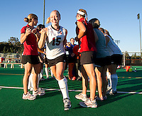 STANFORD, CA - September 3, 2010: Colleen Ryan (15) during a field hockey match against UC Davis in Stanford, California. Stanford won 3-1.