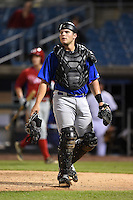 Bryant Bowen (21) of Captain Shreve High School in Shreveport, Louisiana playing for the New York Mets scout team during the East Coast Pro Showcase on July 31, 2014 at NBT Bank Stadium in Syracuse, New York.  (Mike Janes/Four Seam Images)