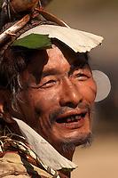 Nocte Naga tribals displaying their culture at the Chalo Loku festival held in Khonsa, Arunacha Pradesh.